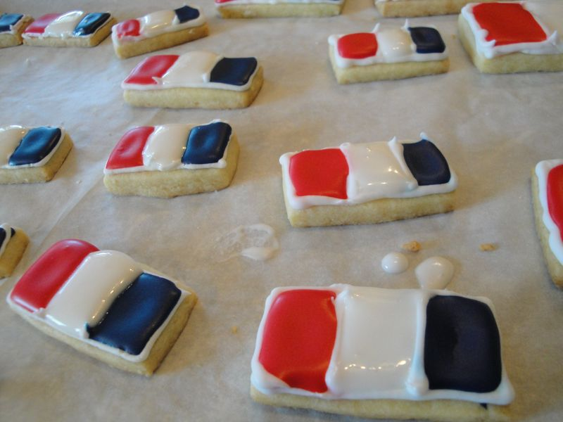 France Flag Cookies