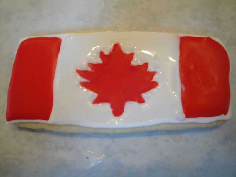 Canadian Flag Cookie
